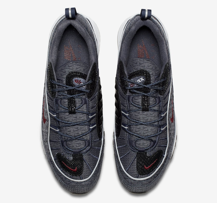 """finest selection b6588 eb9f9 Nike Air Max 98 QS """"Thunder Blue"""" Color  Thunder Blue Team Red-Diffused Blue  Style Code  924462-400. Release Date  February 2018"""