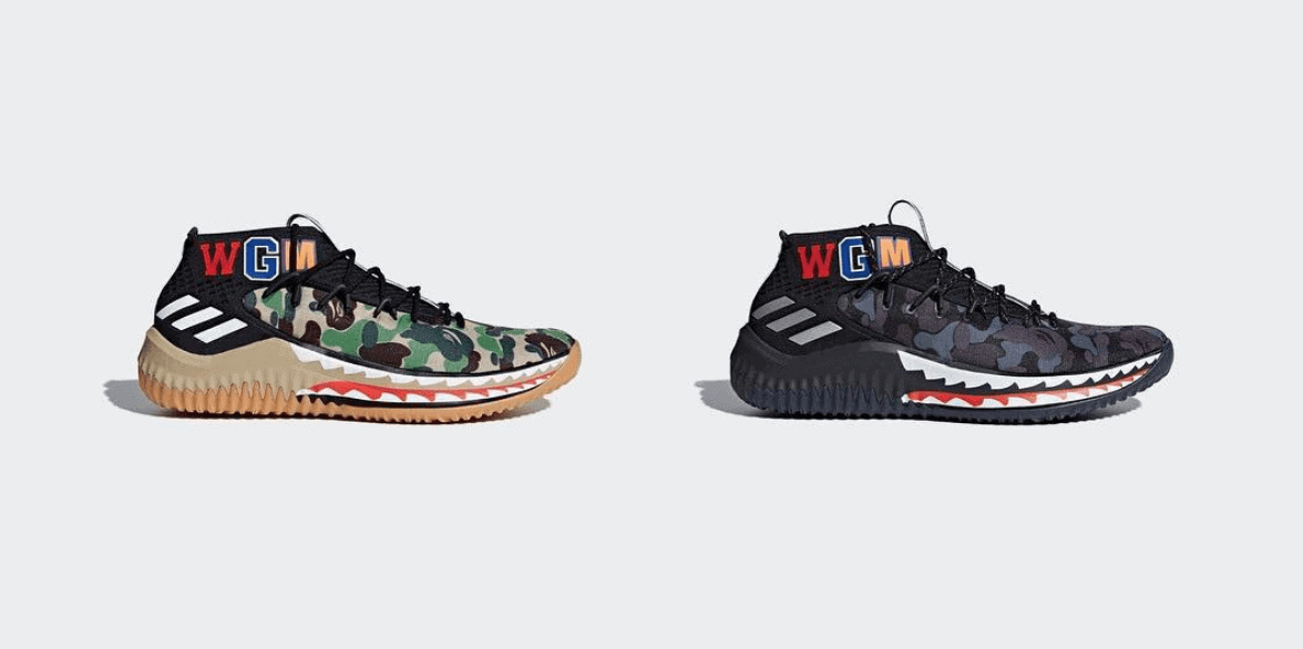 best sneakers 5d055 156b6 adidas Taps BAPE to Rework the Dame 4