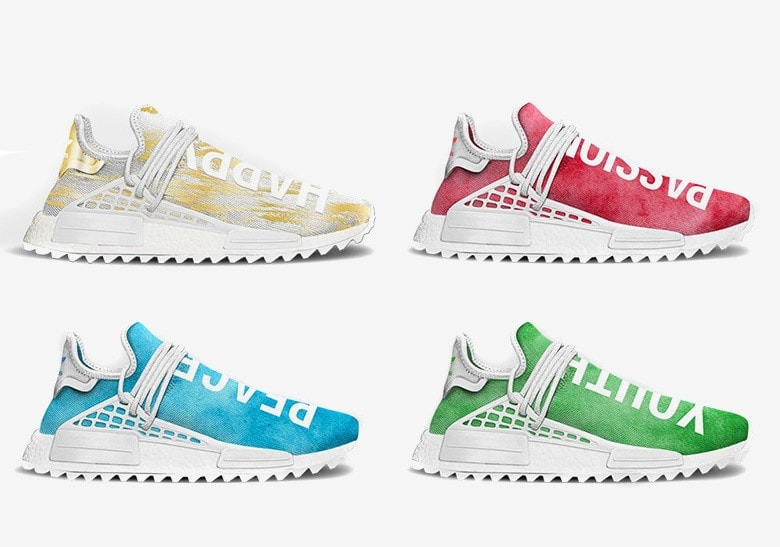 sports shoes 0da15 0a15d Pharrell and adidas are going big with the Pharrell Williams NMD Hu Trail  this year. With several other collections and exclusives leaked so far, ...