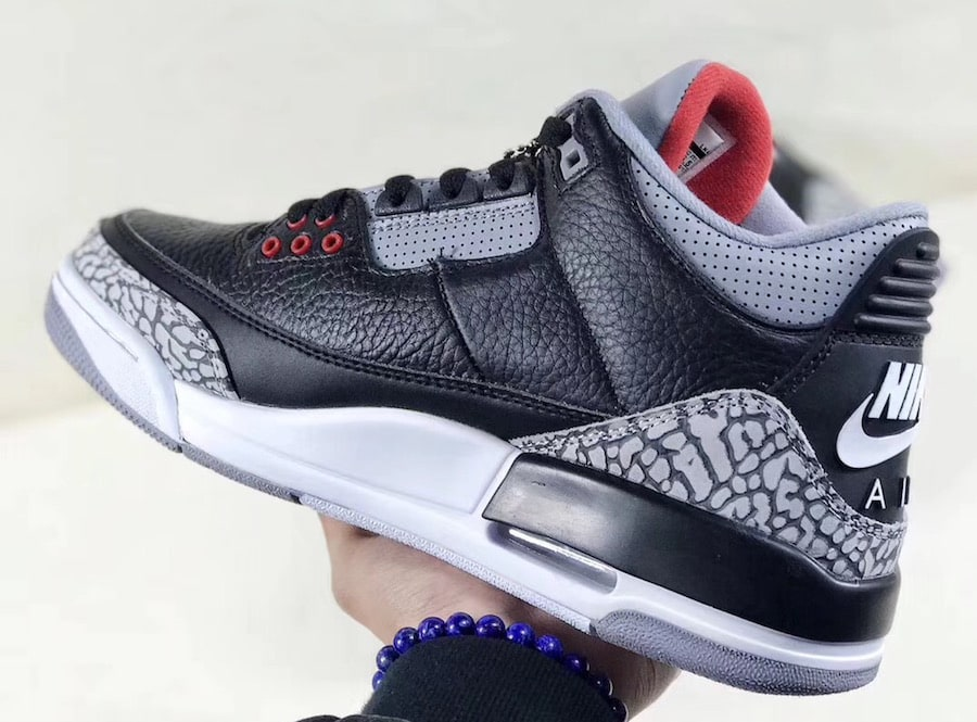 "Air Jordan 3 OG GS ""Black Cement"" Style Code: 854261-001. Release Date:  February 17, 2018. Price: $160"