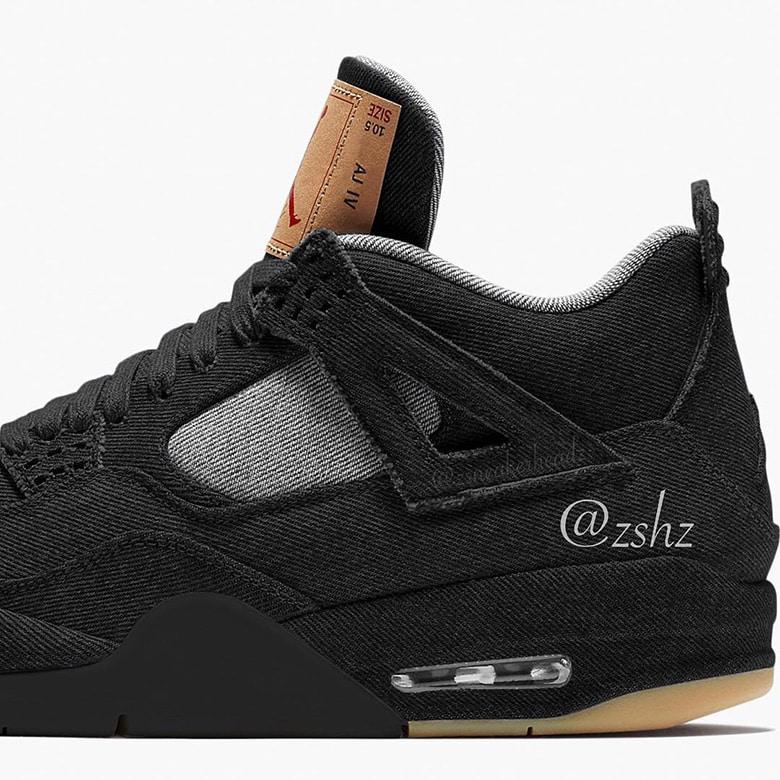 e0aaf7aff72908 Levi s x Air Jordan 4 Black Denim Releasing June 2018 - JustFreshKicks