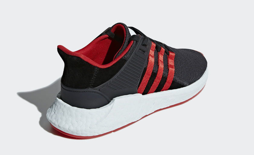 Adidas Originals - Equipment Support 93/17 Yuanxiao, Carbon/Core Black/Scarlet - Sneakers