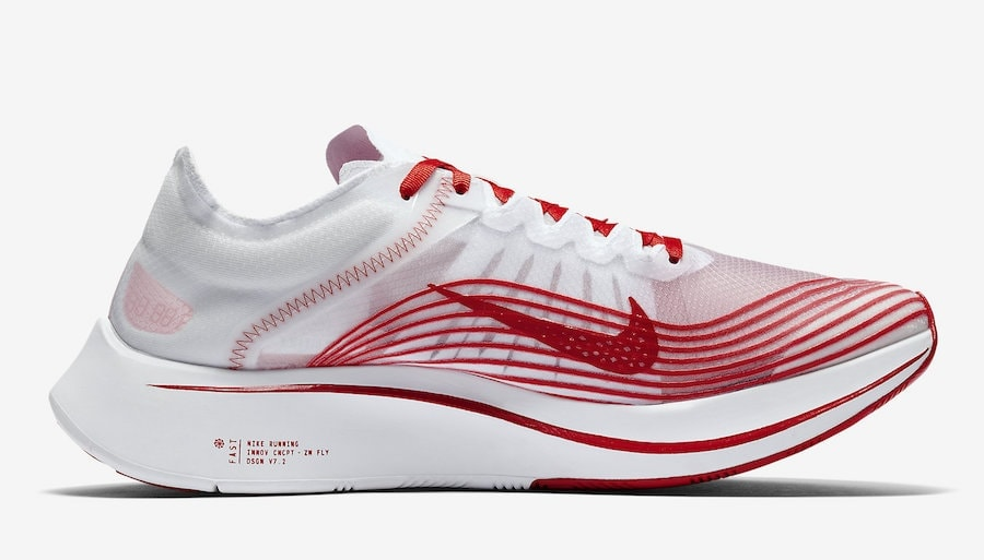 Nike Zoom Fly SP Running Shoes White/University Red/Summit White AJ9282 100