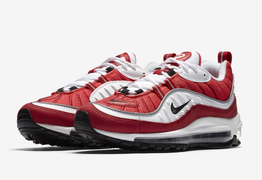 """The year of the Air Max 98 continues with new lineup of colorways, collaborations, and special make up's. Enter the """"Gym Red"""" colorway, a bright new take on ..."""