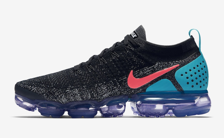 """buy online a9ef6 0b4a0 Nike Air VaporMax 2.0 """"Jade Night"""" Release Date  March 9, 2018. Price    190. Color  Black Hot Punch-White-Dusty Cactus Style Code  942842-003"""