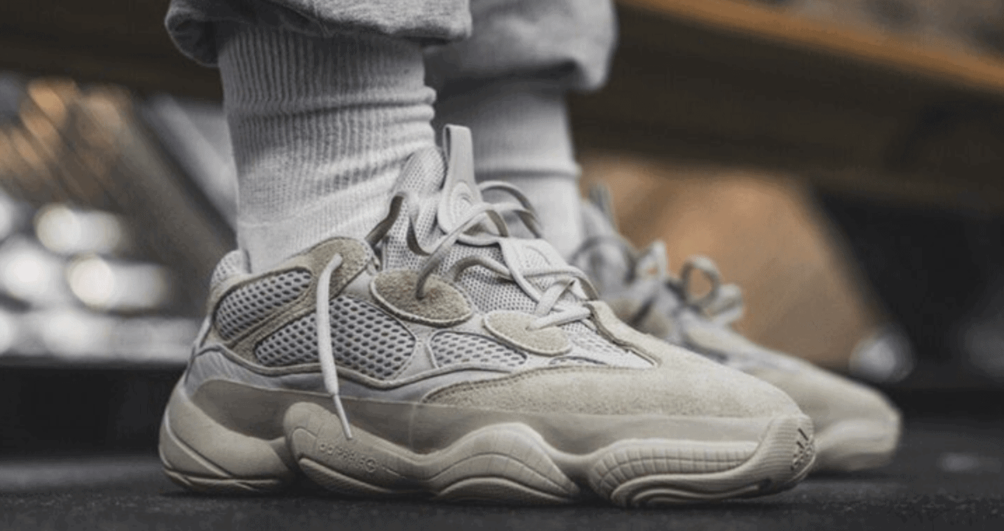 Take A Closer Look At The Adidas Yeezy 500 Desert Rat In Blush