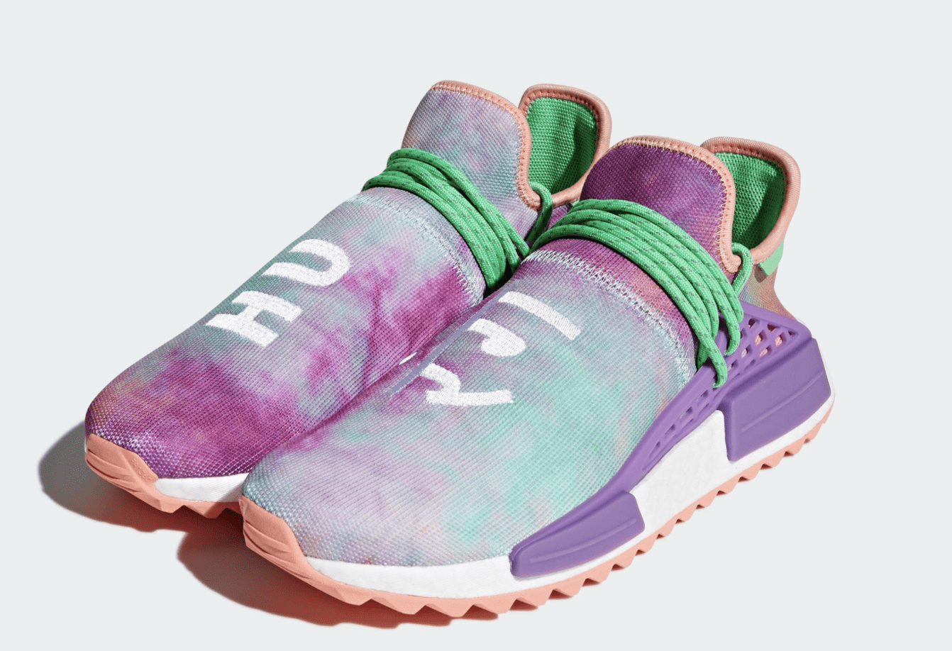 "The post Official Look at the Pharrell x adidas NMD Hu Trail Holi ""Flash  Green"" appeared first on JustFreshKicks. ff6734ad898ff"