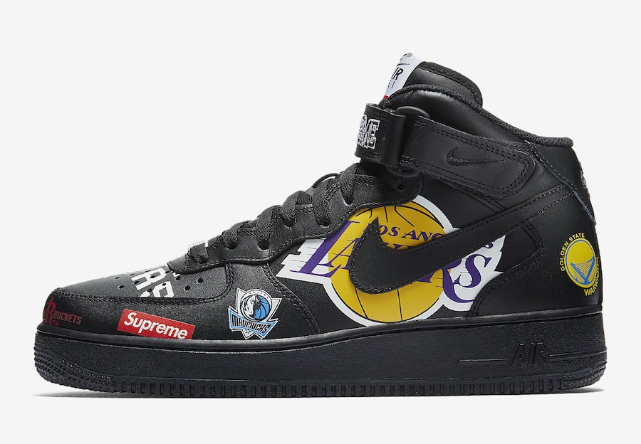 a596d5e6e786e Supreme x NBA x Nike Air Force 1 Mid  07 Release Info - JustFreshKicks