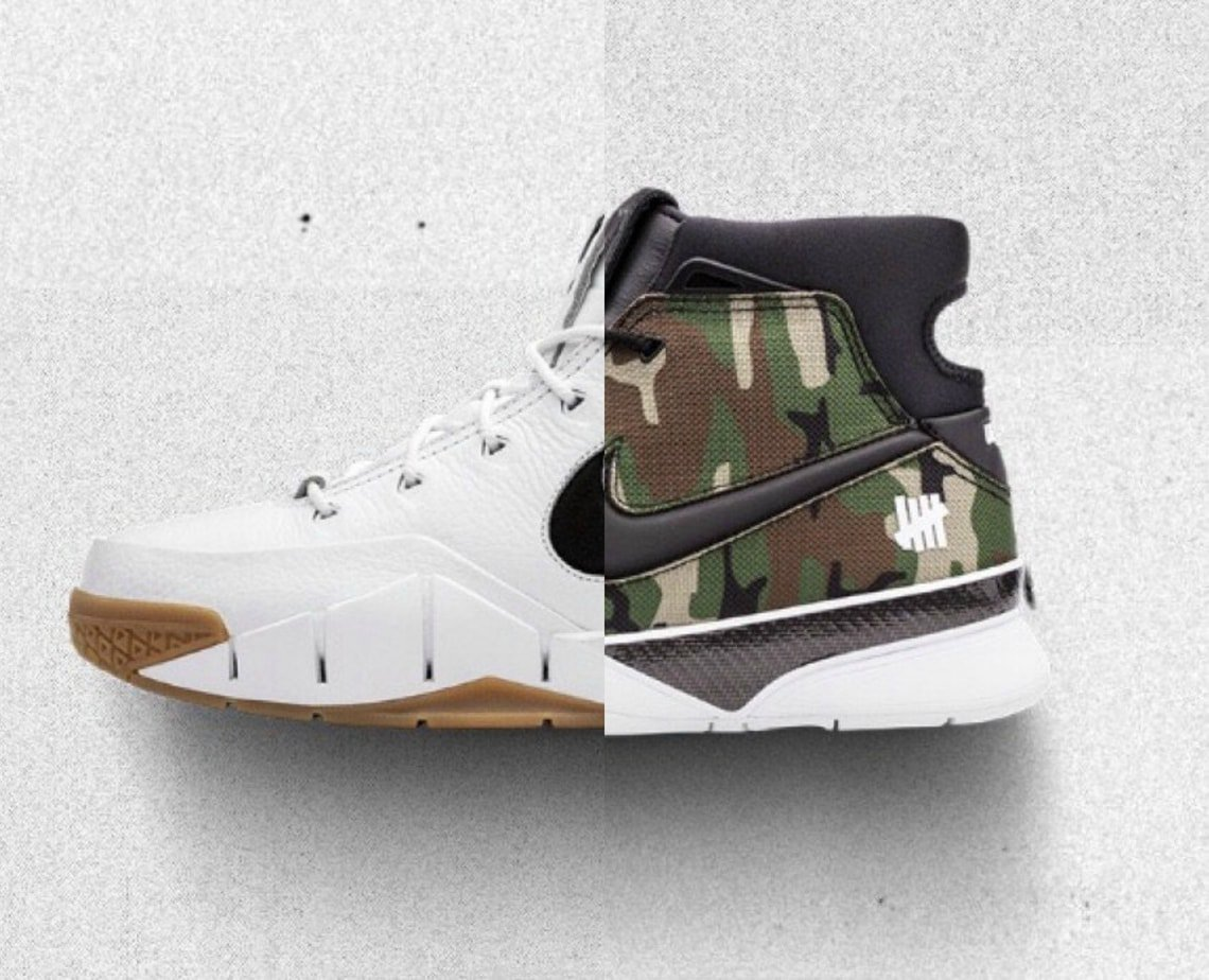 "the latest d69e8 cc98f As a part of their ""Makers of the Game"" collection releasing at All-Star  weekend, Nike has teamed up with Undefeated on the new Kobe 1 Protro, ..."