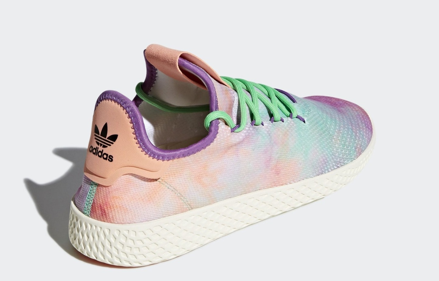 "promo code d77bf 63af1 Pharrell x adidas Tenni Hu MC ""Holi"" Release Date March 2, 2018. Price  130 Color Chalk CoralSupplier ColourSupplier Colour Style Code AC7362"
