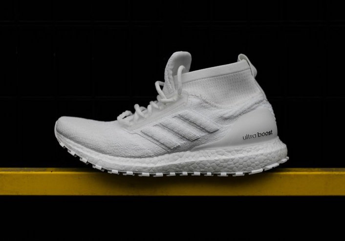 "2e011cad7bf54 adidas Ultra Boost ATR Mid ""Triple White"" Release Date  Available Now  Price   220. Color  Ftwr White Ftwr White Ftwr White"