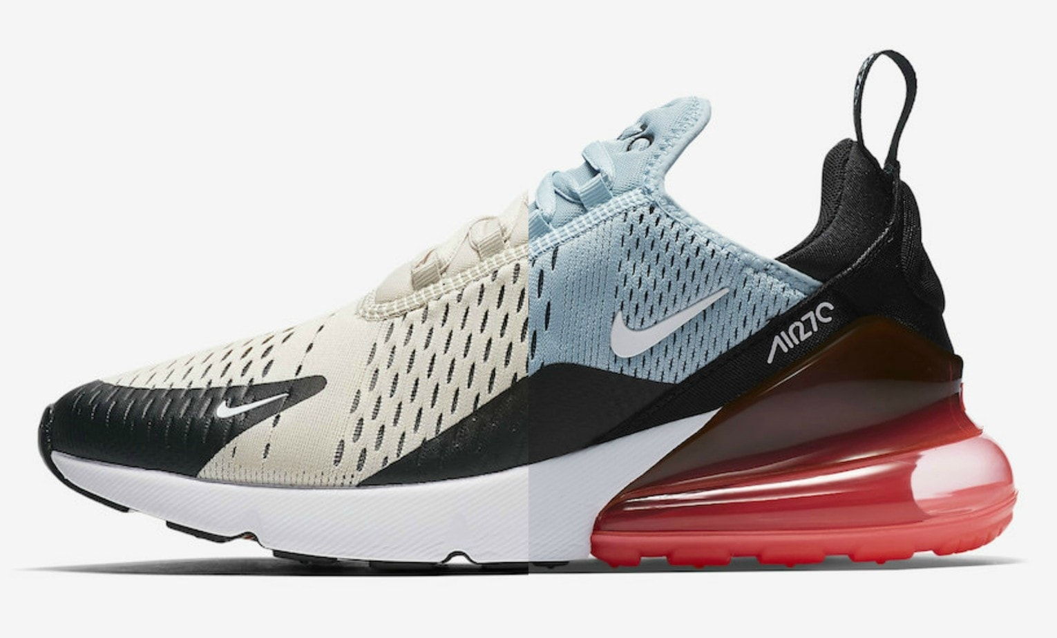 outlet store b0b7a 57fb9 The new Nike Air Max 270 has already been seen in an enormous berth of  colorways. Now, the model will be releasing soon in Light Bone and Ocean  Bliss.