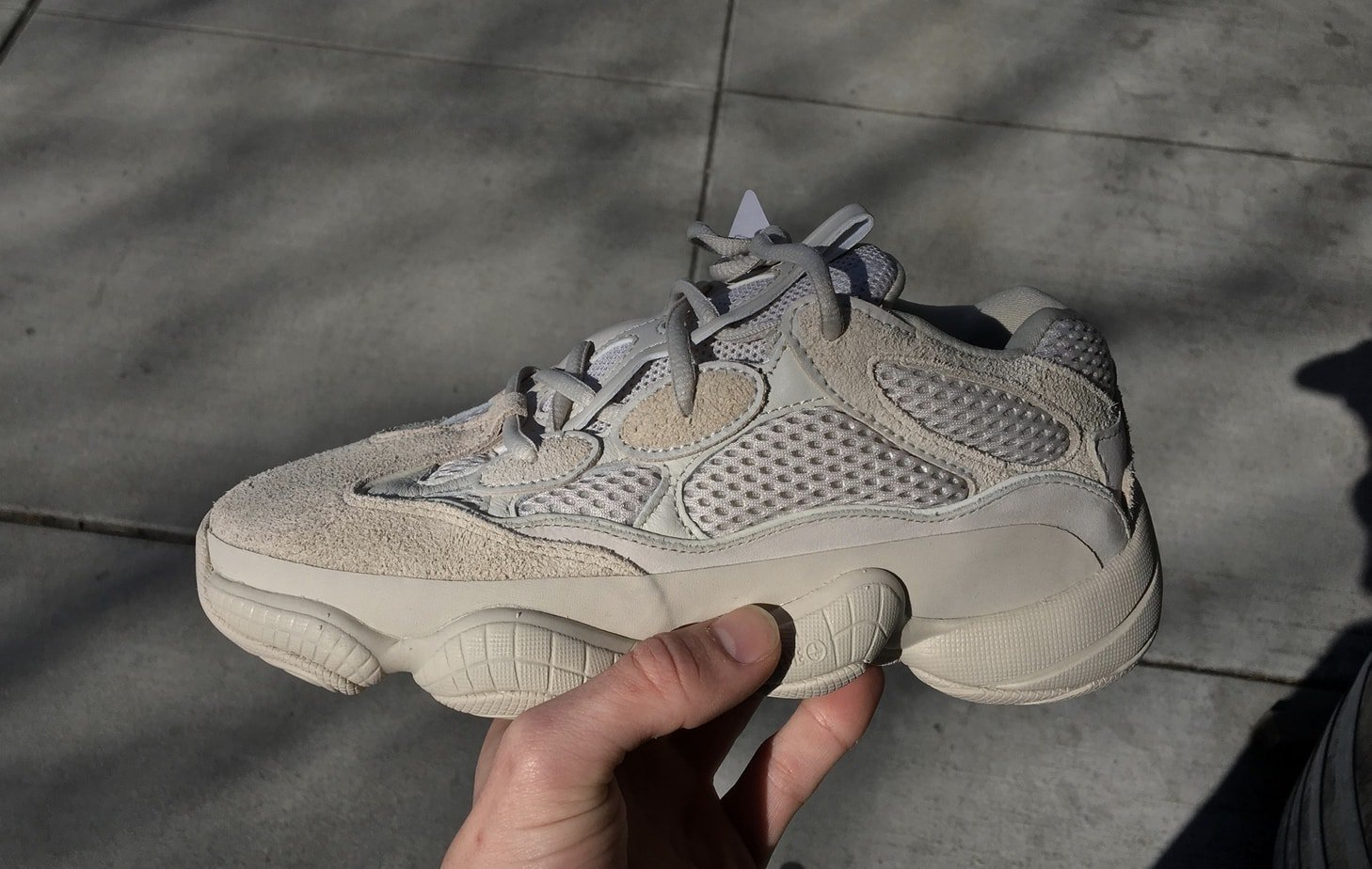 8bcd68278f9 Kanye West and adidas are slowly but surely rolling out a new model. The  unique adidas Yeezy 500 silhouette is first scheduled to ship to consumers  in March ...