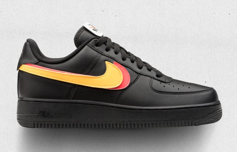 nike air force 1 swoosh black