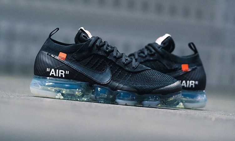 "sale retailer 1ca75 372d8 The two aren t stopping in 2018, with the latest Off-White x Nike Air  Vapormax Flyknit ""Black"" ..."