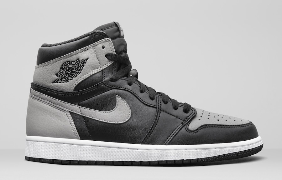 "e844234db83 Air Jordan 1 Retro High OG ""Shadow"" Color  Black Medium Grey-White Style  Code  555088-013. Release Date  April 14"