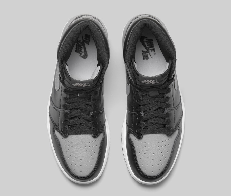 "74f355495873 Air Jordan 1 Retro High OG ""Shadow"" Color  Black Medium Grey-White Style  Code  555088-013. Release Date  April 14"