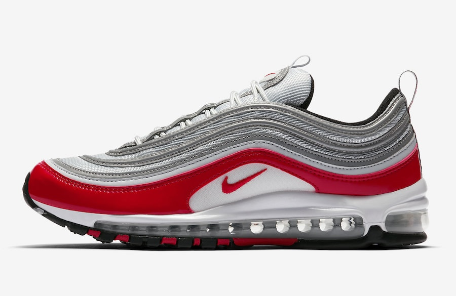 nike air max 97 red and white