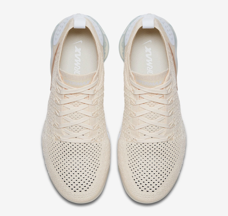 "66cd90e63d02 Nike Air Vapormax Flyknit 2.0 ""Light Cream"" Release Date  TBD Price   190.  Color  Light Cream White-Metallic Gold Style Code  942843-201"