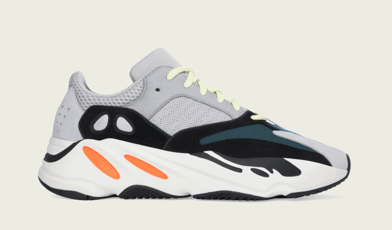 adidas Yeezy Boost 700 Wave Runner Release Date: March 10, 2018. Price:  $300. Color: Multi Solid Grey/Chalk White/Core Black Style Code: B75571