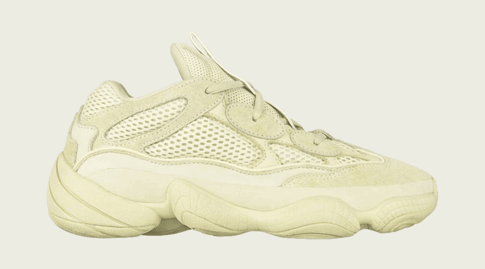 "9473a6815d8 adidas Yeezy 500 ""Super Moon Yellow"" Release Date  May 2018. Price   200.  Color  SuMoYe SuMoYe SuMoYe. Style Code  DB2966"