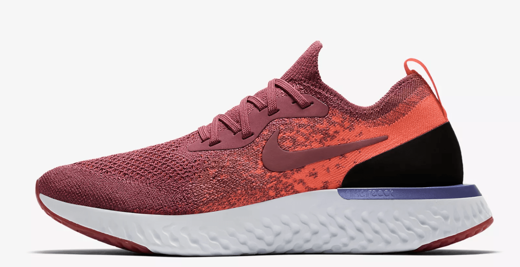 "dcfe5276f2a Nike Epic React Flyknit ""Crimson"" Release Date  Coming Soon Price   150.  Color  Rust Pink Hyper Crimson Barely Rose Rust Pink Style Code  AQ0070-601"