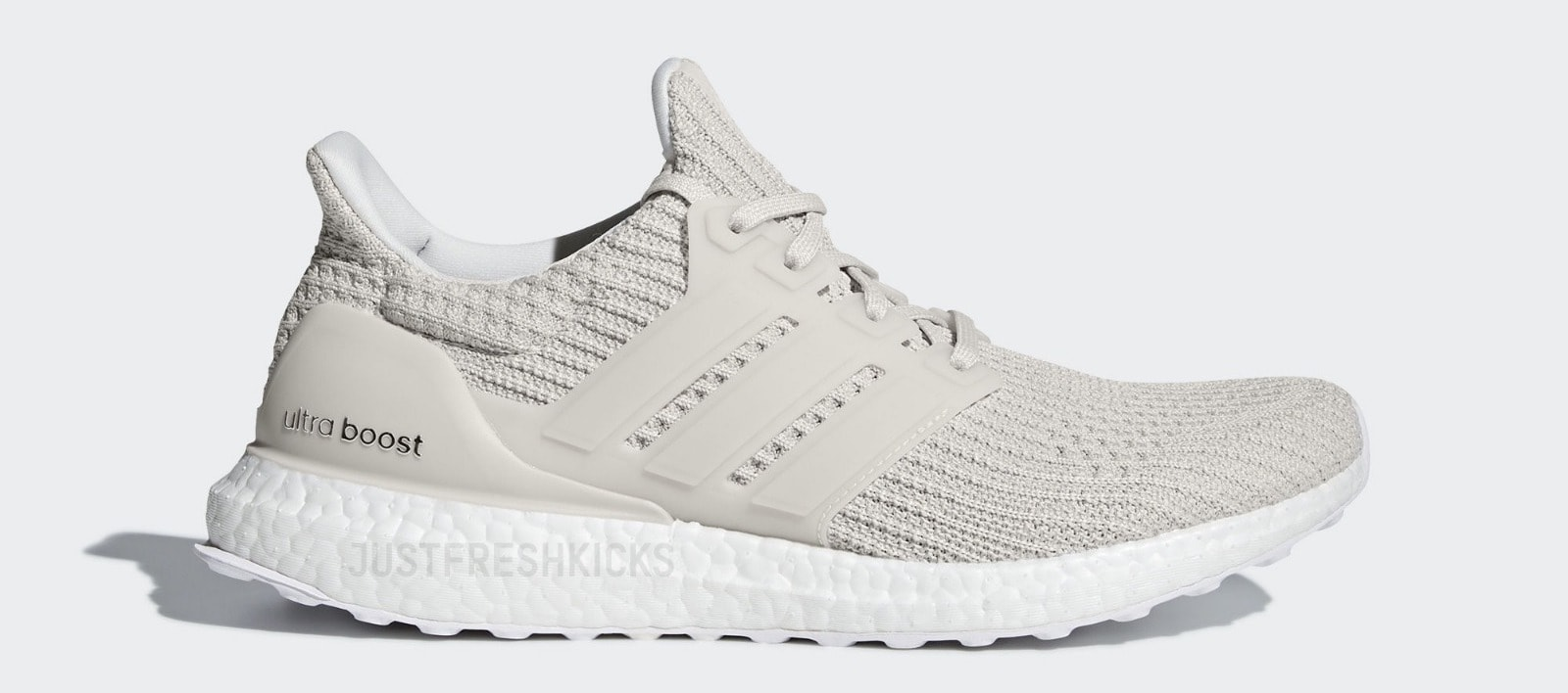 "52869f7a13 The post Official Look at the adidas Ultra Boost 4.0 ""Chalk Pearl"" Coming  Soon appeared first on JustFreshKicks."