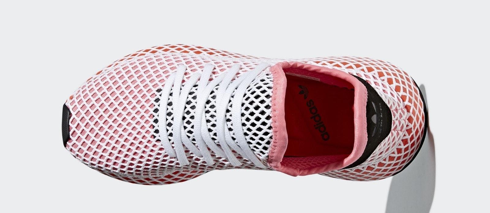 outlet store fec3a f60c9 adidas Deerupt Runner PinkOrange Release Date March 22nd, 2018. Price  100. Color Chalk PinkChalk PinkBold Orange Style Code CQ2910