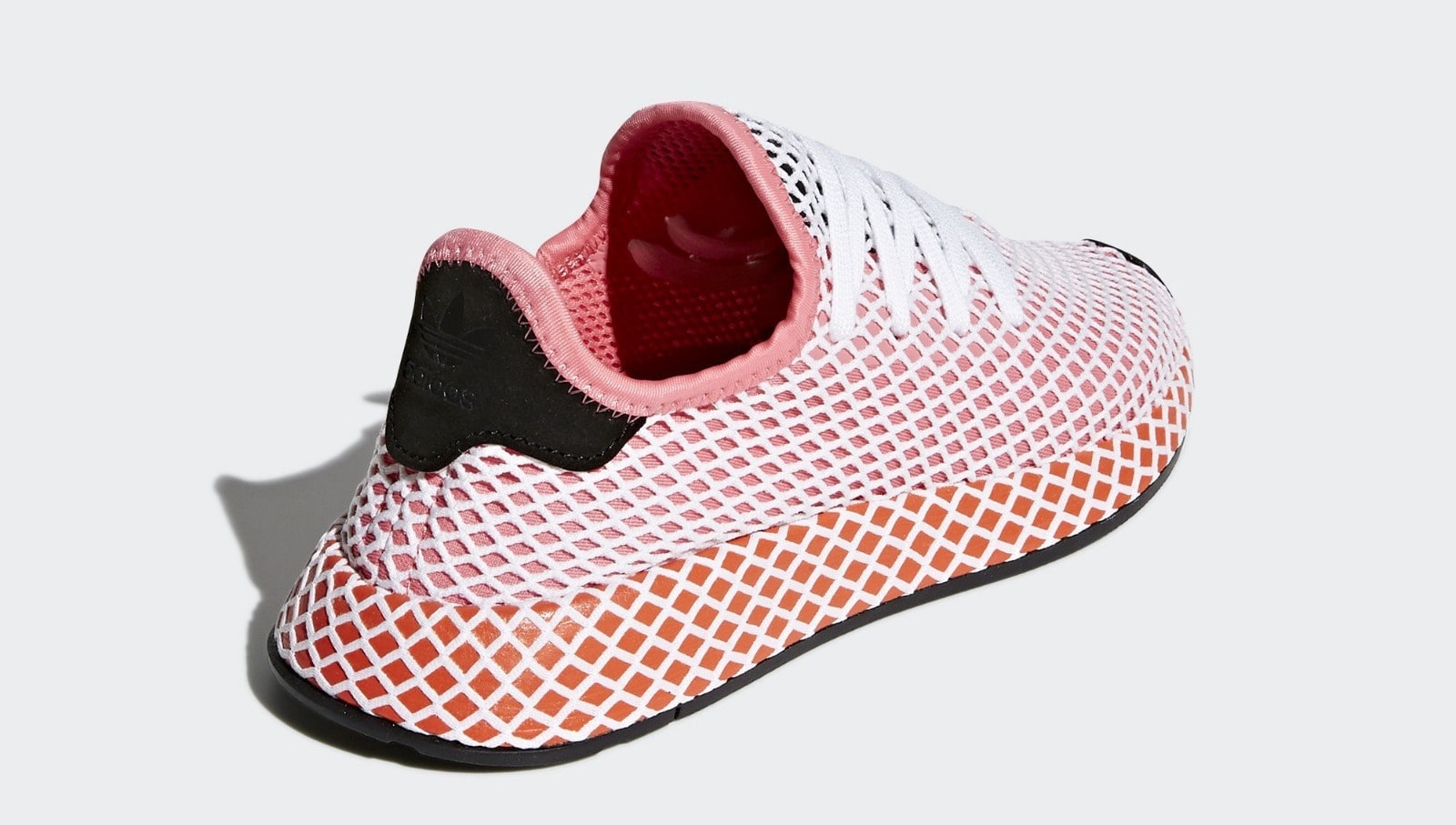 outlet store fec3a f60c9 adidas Deerupt Runner PinkOrange Release Date March 22nd, 2018. Price  100. Color Chalk PinkChalk PinkBold Orange Style Code CQ2910