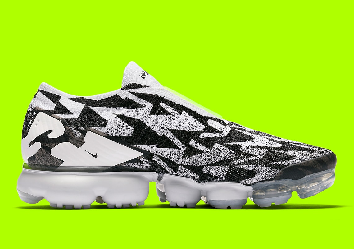 new concept f302c 8708b Acronym x Nike Air Vapormax Flyknit Moc 2. Release Date March 24th, 2018.  Price 220. Color BlackWhiteNeon