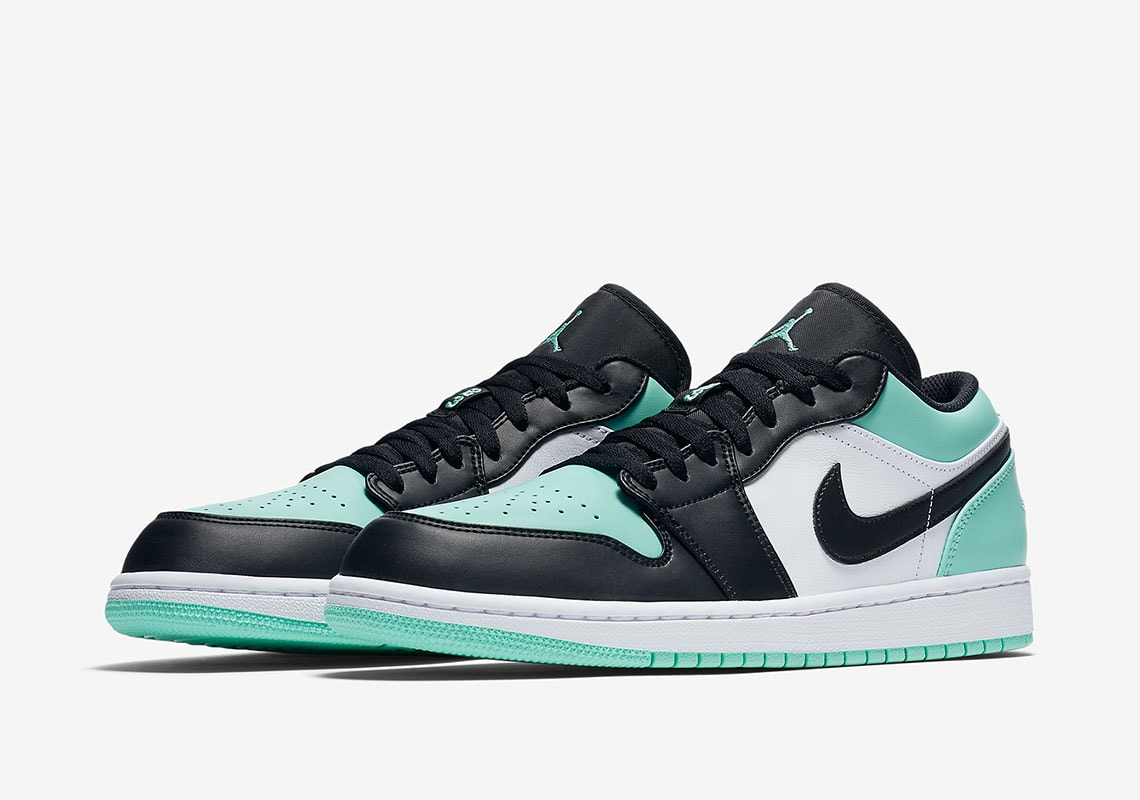 """1049391e8b1b Air Jordan 1 Low """"Atmosphere"""" Release Date  TBD Price   110. Color   White Atmosphere Black Style Code  553558-110"""