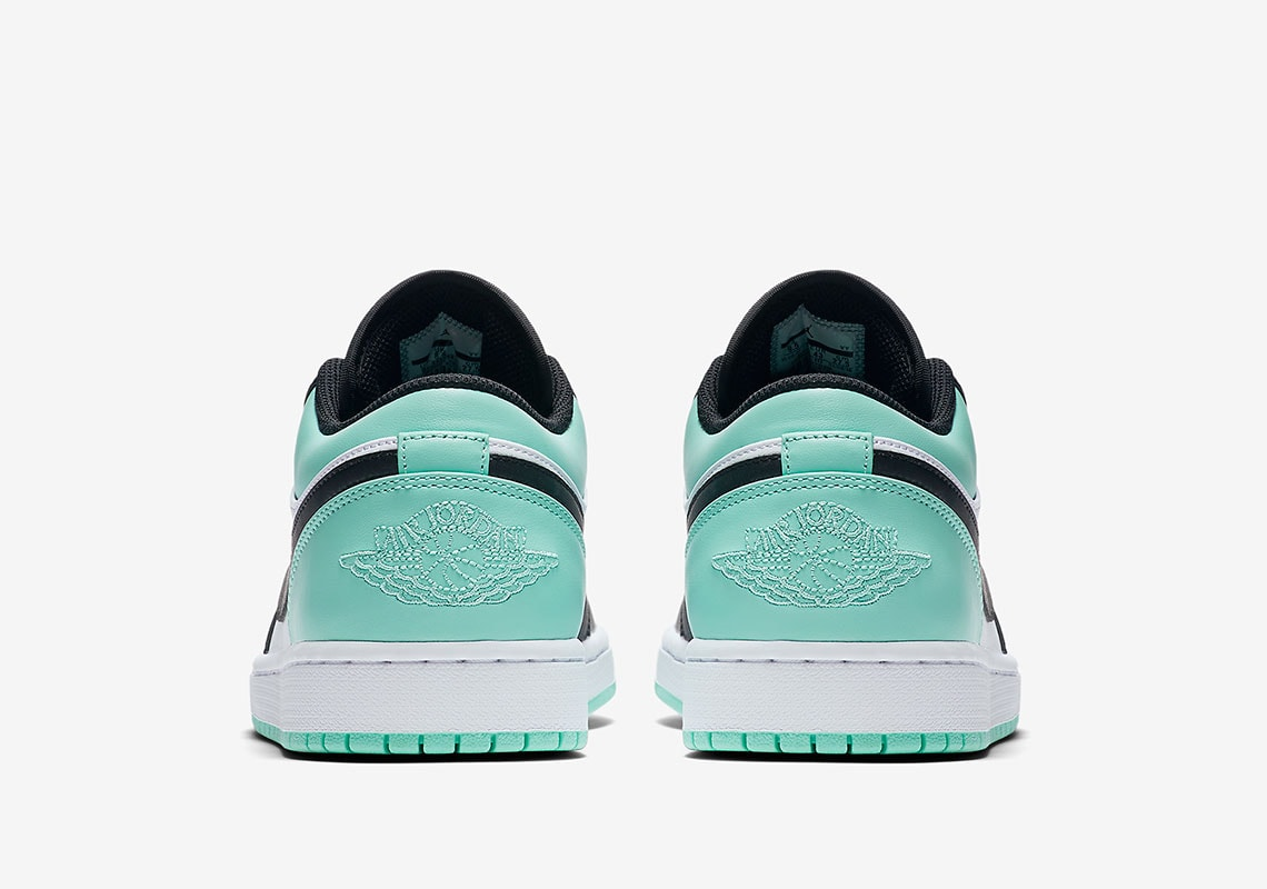 """bb1ab7909d0949 Air Jordan 1 Low """"Atmosphere"""" Release Date  TBD Price   110. Color   White Atmosphere Black Style Code  553558-110"""