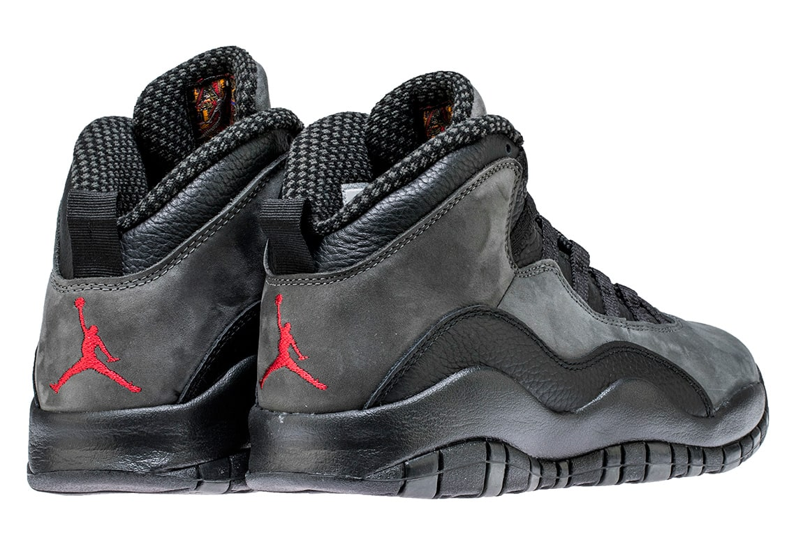 "4471bc26480046 Air Jordan 10 Retro ""Dark Shadow"" Color  Dark Shadow Black-True Red Style  Code  310805-002. Release Date  April 21"