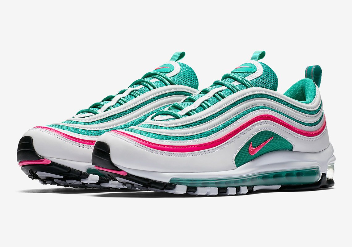 f637f18b9e ... gs white pink green 1ffef 4a900 coupon for the nike air max 97 south  beach releases this month fecea b145c ...