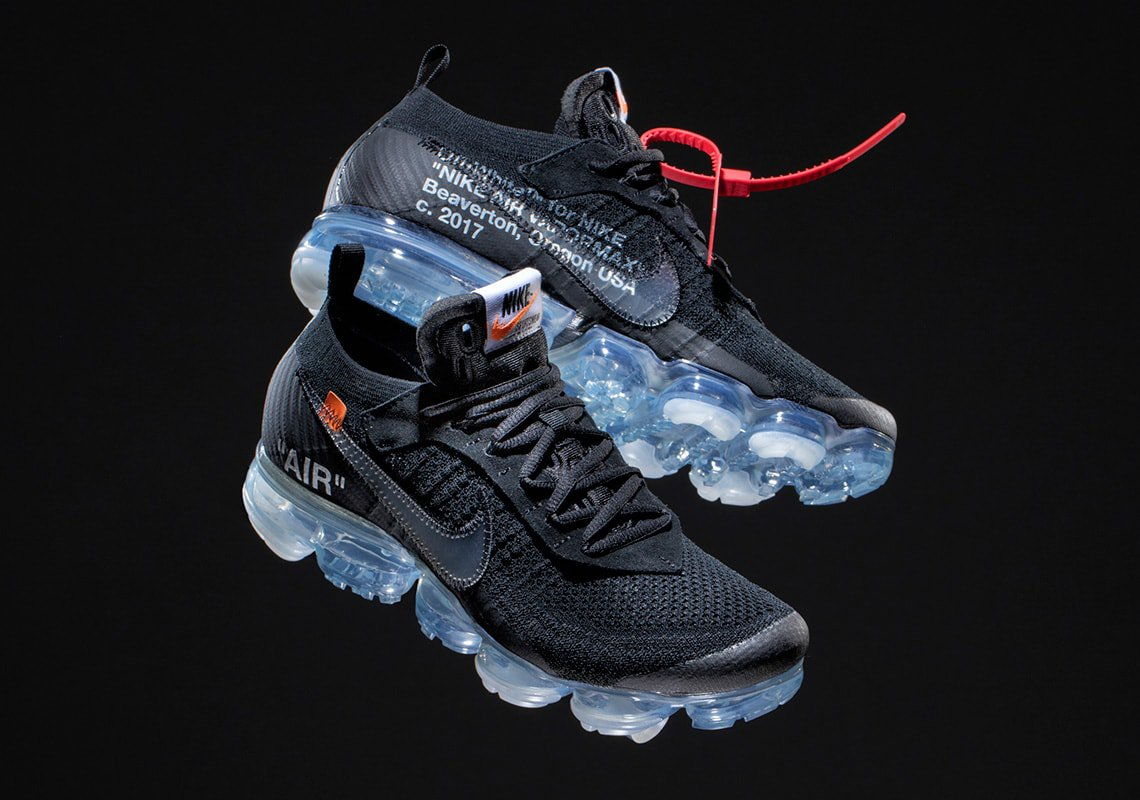 huge discount 97a2c d9079 Off-White and Nike have another release around the corner. First leaked  back in 2017, the second pair of the Off-White x Nike Air Vapormax Flyknit  is ...