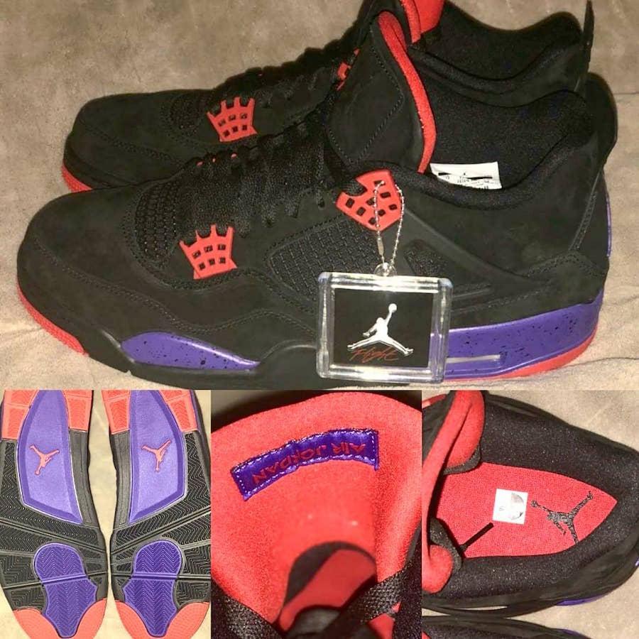 "finest selection 13410 1e515 Air Jordan 4 Retro NRG ""Raptors"" Release Date  2018. Price   190. Color   Black University Red-Court Purple Style Code  AQ3816-056"