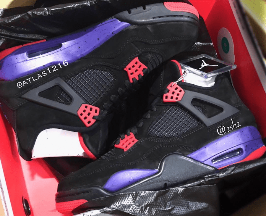 "5beec7e7578a Air Jordan 4 Retro NRG ""Raptors"" Release Date  2018. Price   190. Color   Black University Red-Court Purple Style Code  AQ3816-056"