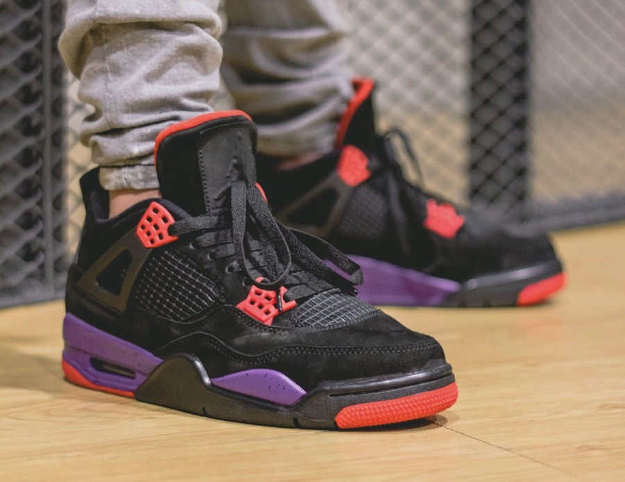 "meet be0d1 70301 Air Jordan 4 NRG ""Raptors"" Release Date  August 18th, 2018. Price   190.  Color  Black University Red-Court Purple Style Code  AQ3816-056"