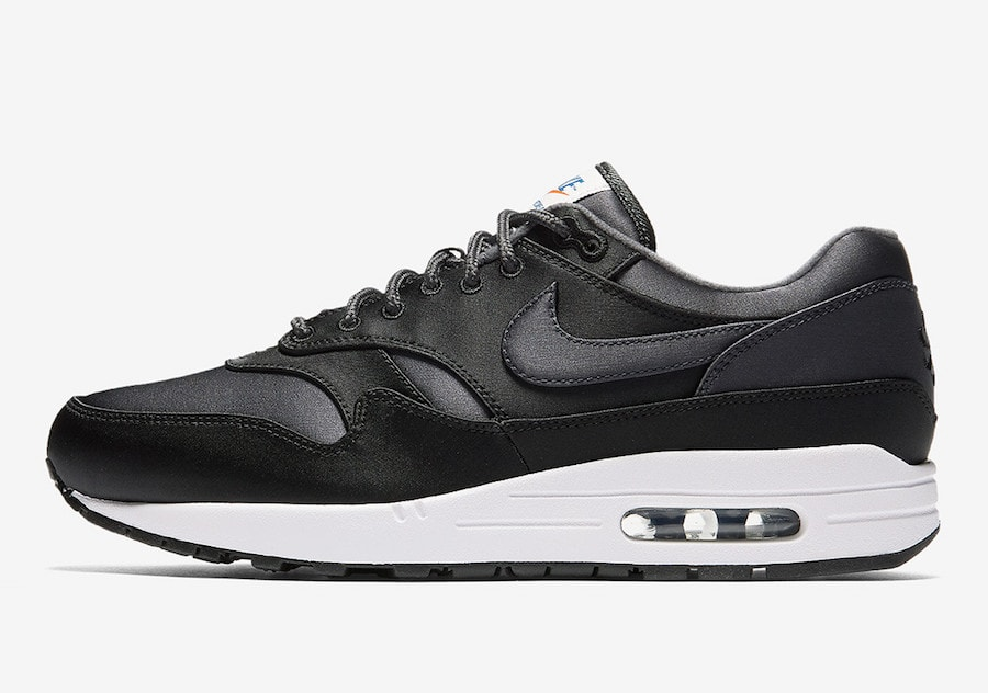 """ae1d84da5fc6 Nike Air Max 1 OG """"Satin"""" Release Date  Coming Soon Price   160. Color   Black Black-White Style Code  AO1021-001"""