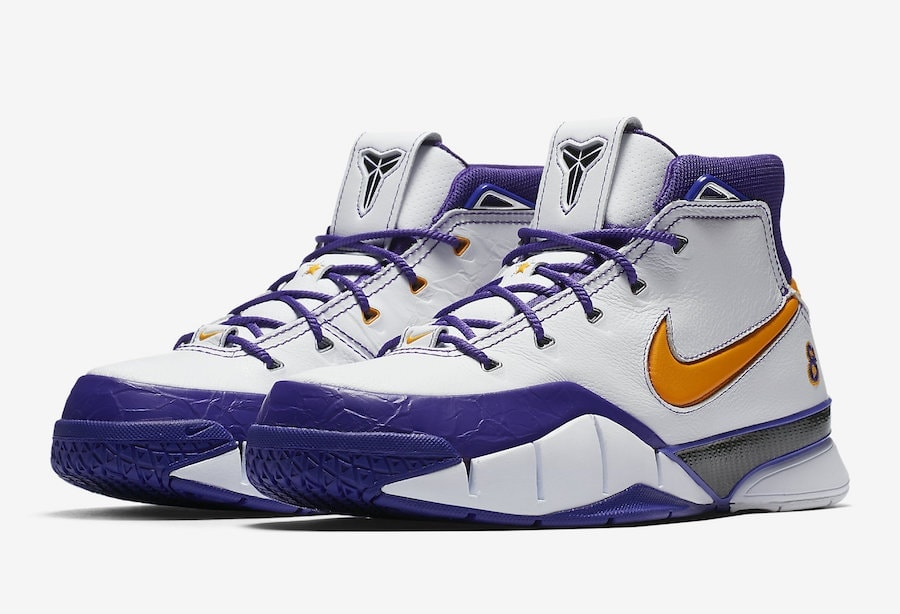 "a2532129bc04 Nike Kobe 1 Protro ""Closeout"" Launches in Lakers  Colors Next Week"