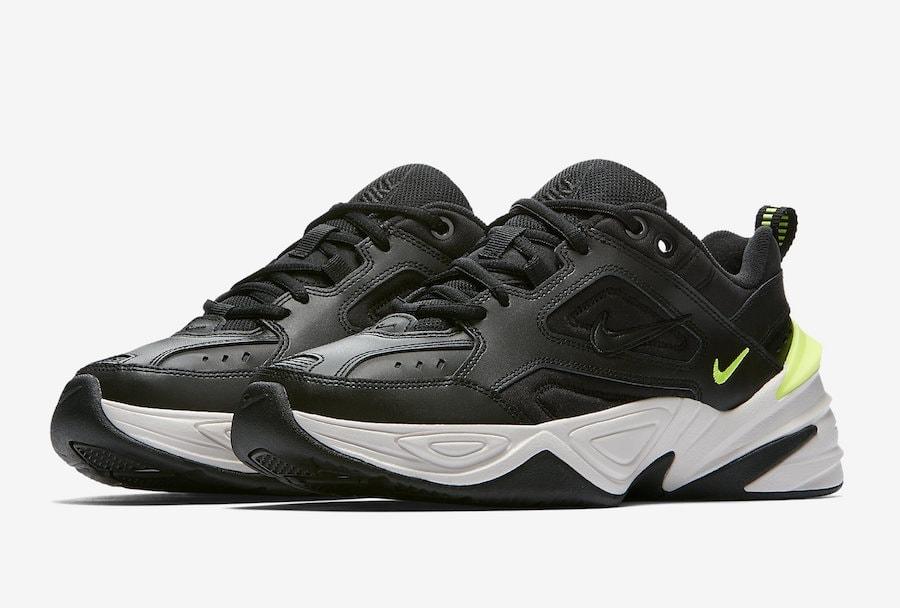 online store c88c9 994e7 Nike M2K Tekno Black Volt Release Info - JustFreshKicks