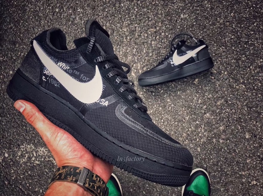 28a65ba092d5 Off-White x Nike Air Force 1 Low Black Release Info - JustFreshKicks
