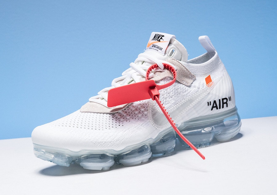 66589381cda2d7 Off-White x Nike Air VaporMax. Color  White Total Crimson-Black Style Code   AA3831-100. Release Date  April 14