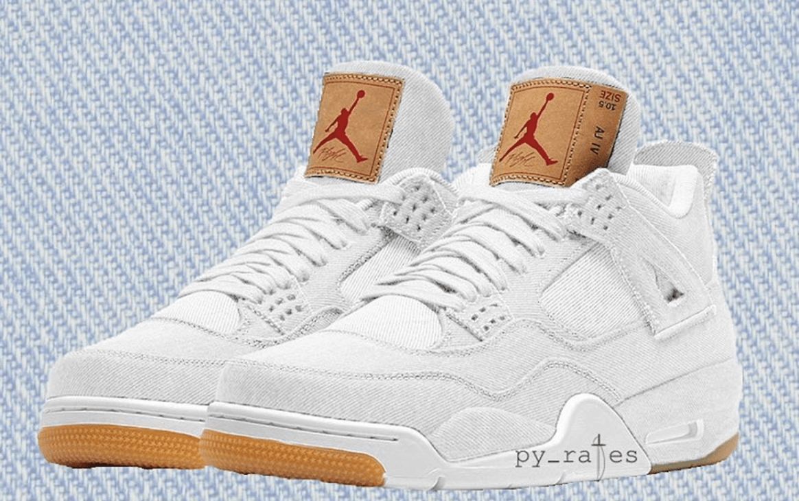 sports shoes 482c2 933a1 Levi s x Air Jordan 4 White Release Date  June 16th, 2018. Price   225.  Color  White Gum