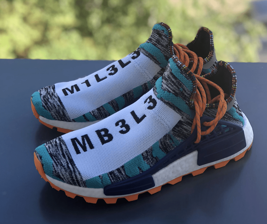 on sale 2336b a9635 Pharrell x adidas Afro Hu NMD Release Date August 18th, 2018. Price 250.  Color Hi-Res AquaCore Black Style Code BB9528