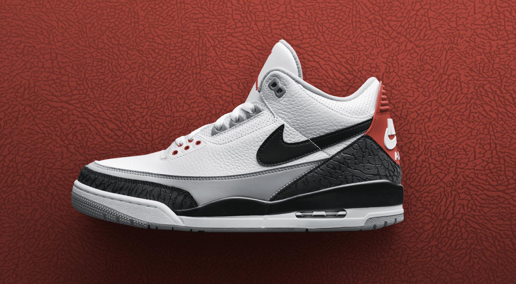 Mens Air Jordan 3 Tinker Fire Red Nrg Shoe