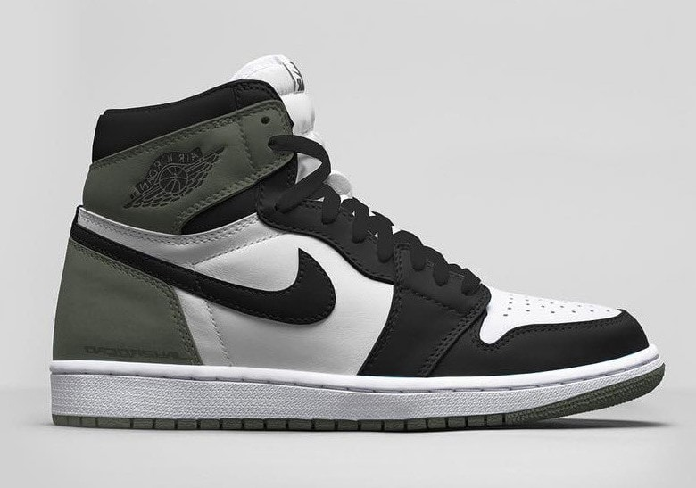 "c33b5391f97f83 Air Jordan 1 Retro High OG ""Clay Green"" Release Date - JustFreshKicks"
