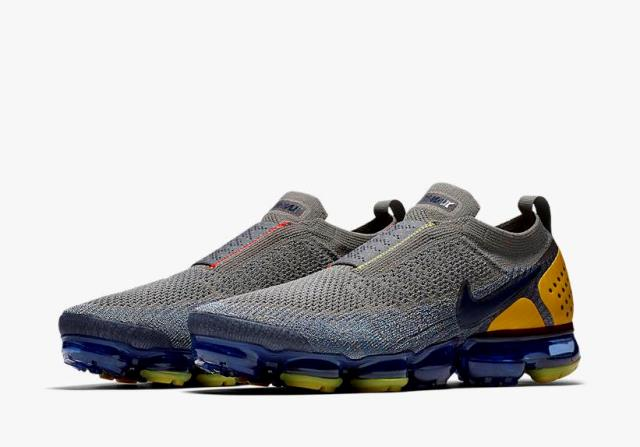 "c3e9030e0656 Nike Air Vapormax Flyknit Moc 2 ""Dark Stucco"" Release Date  April 2018.  Price   200. Color  Dark Stucco Ocean Fog Speed Red Midnight Navy"