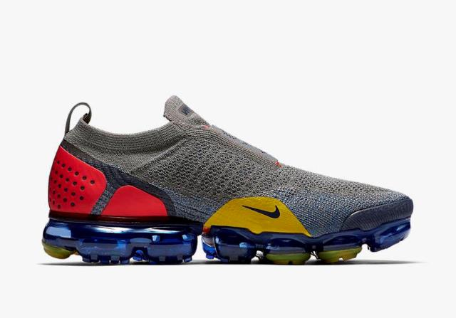 """15ef14afbb87e5 Nike Air Vapormax Flyknit Moc 2 """"Dark Stucco"""" Release Date  April 2018.  Price   200. Color  Dark Stucco Ocean Fog Speed Red Midnight Navy"""