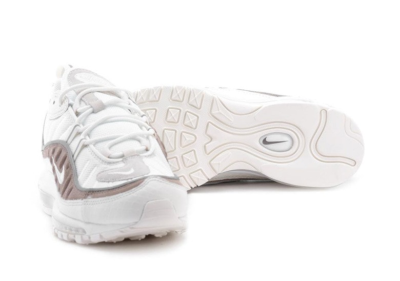 Air Max 98 Se Mesh, Snake-effect Leather And Suede Sneakers Nike